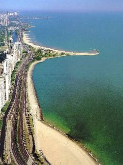 Chicago's north side beach
